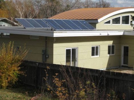 Solar Home with solar arrays.