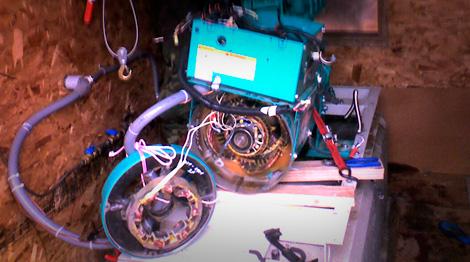 Disassembled Generator