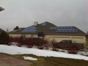 Residential solar install offsets most of this home's electricity needs