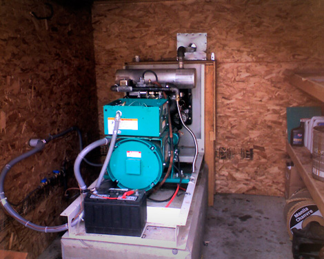 Generator Job is complete and ready to provide electrical service for this house