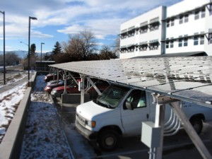 Solar Install : Panels also Shade Cars