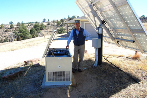 generator and solar for off-grid electric service