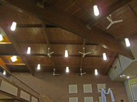 electrical contractor lighting in church sanctuary